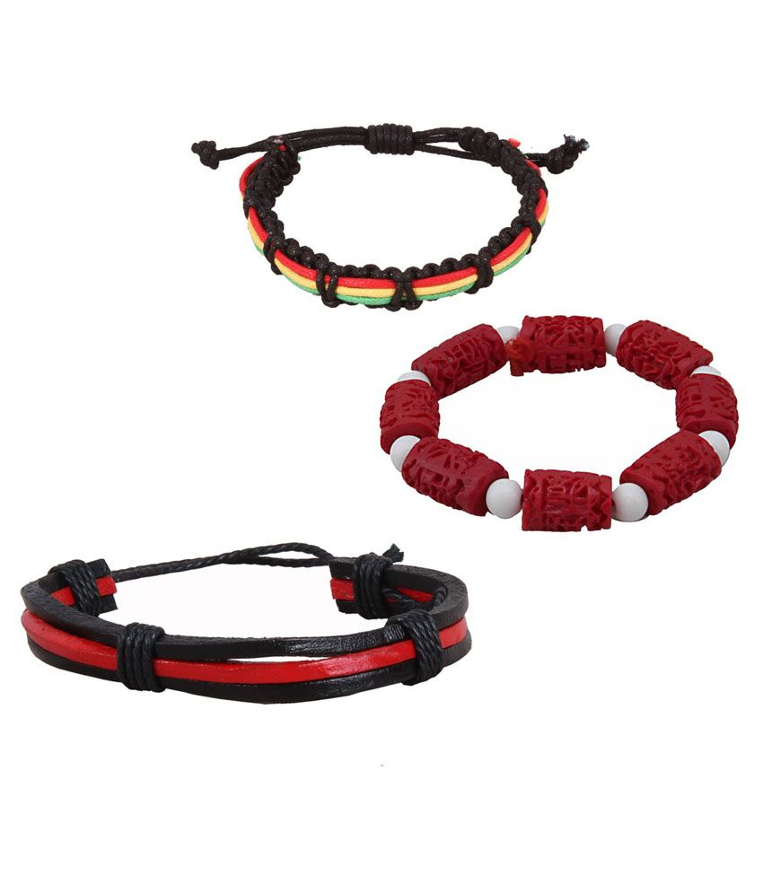 Sushito Red Wrist Band - Combo Of 3
