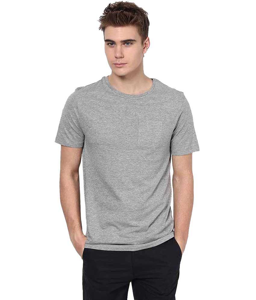 JCK Grey Cotton T - Shirt