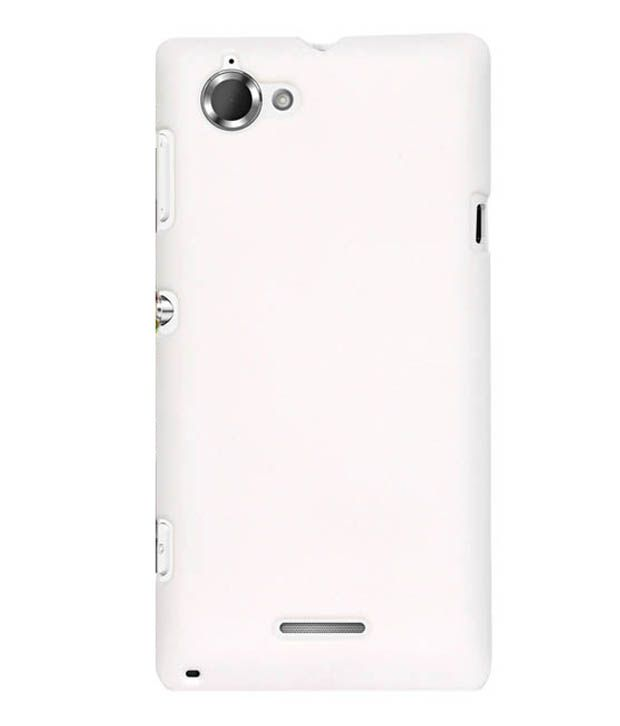 brand new 2d123 65d17 Cubix Back Cover Case For Sony Xperia L C2104 - White - Plain Back ...