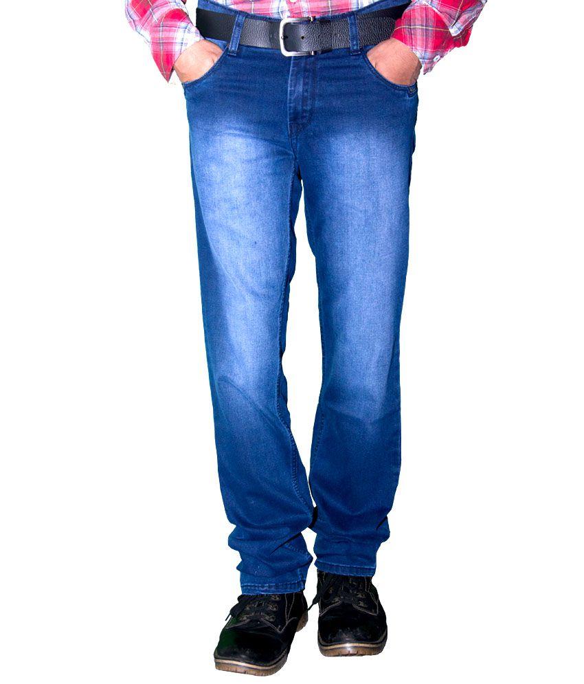 Forma Blue Cotton Slim Fit Jeans