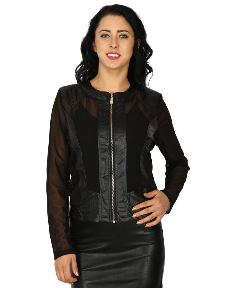 Mens jacket on flipkart - Svt Ada Collections Black Pu Leather Jackets Available At Snapdeal For Rs 1573