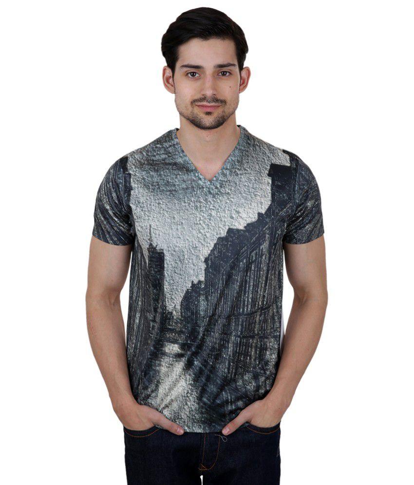 Freecultr Express Grey Poly Blend T-shirt