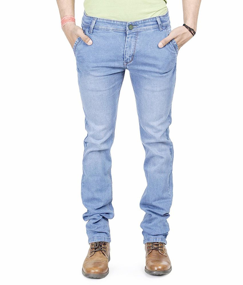 Mission Skyblue Non Lycra Cotton Denim