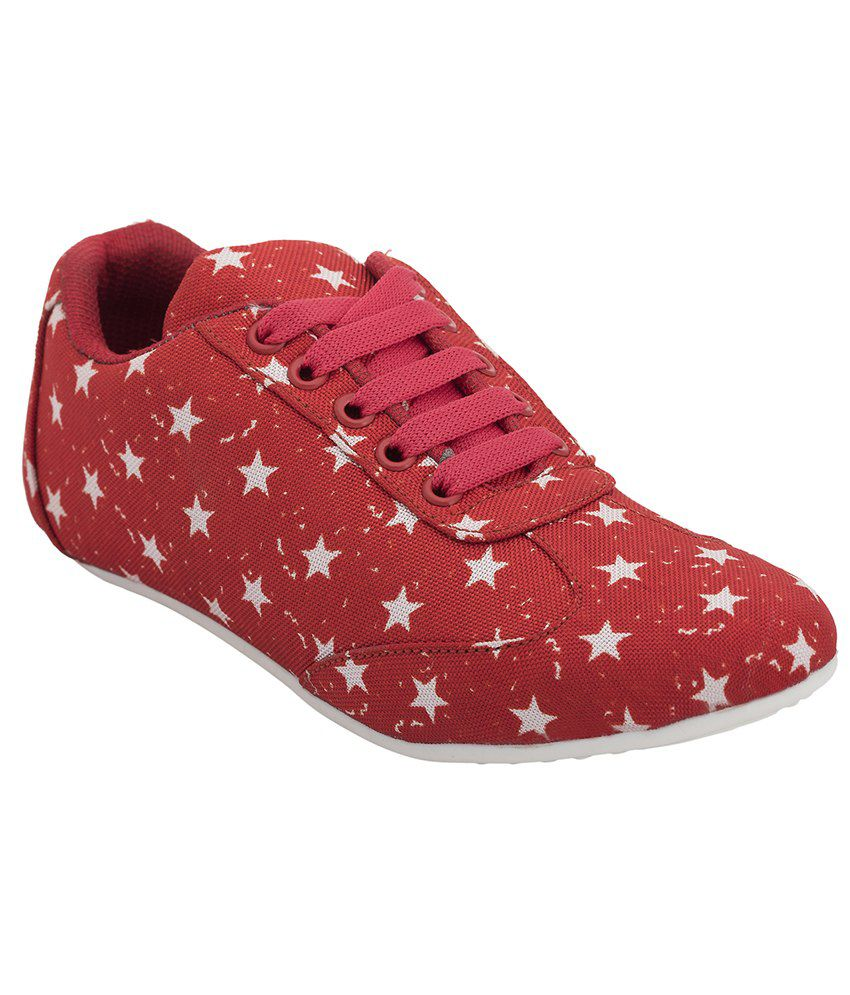 Pretty Feet Red Casual Shoes