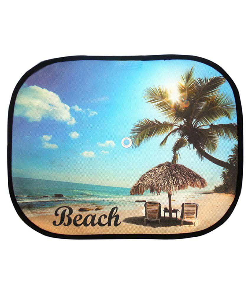 autokraftz car side sunshade beach design blue set of 6pcs buy