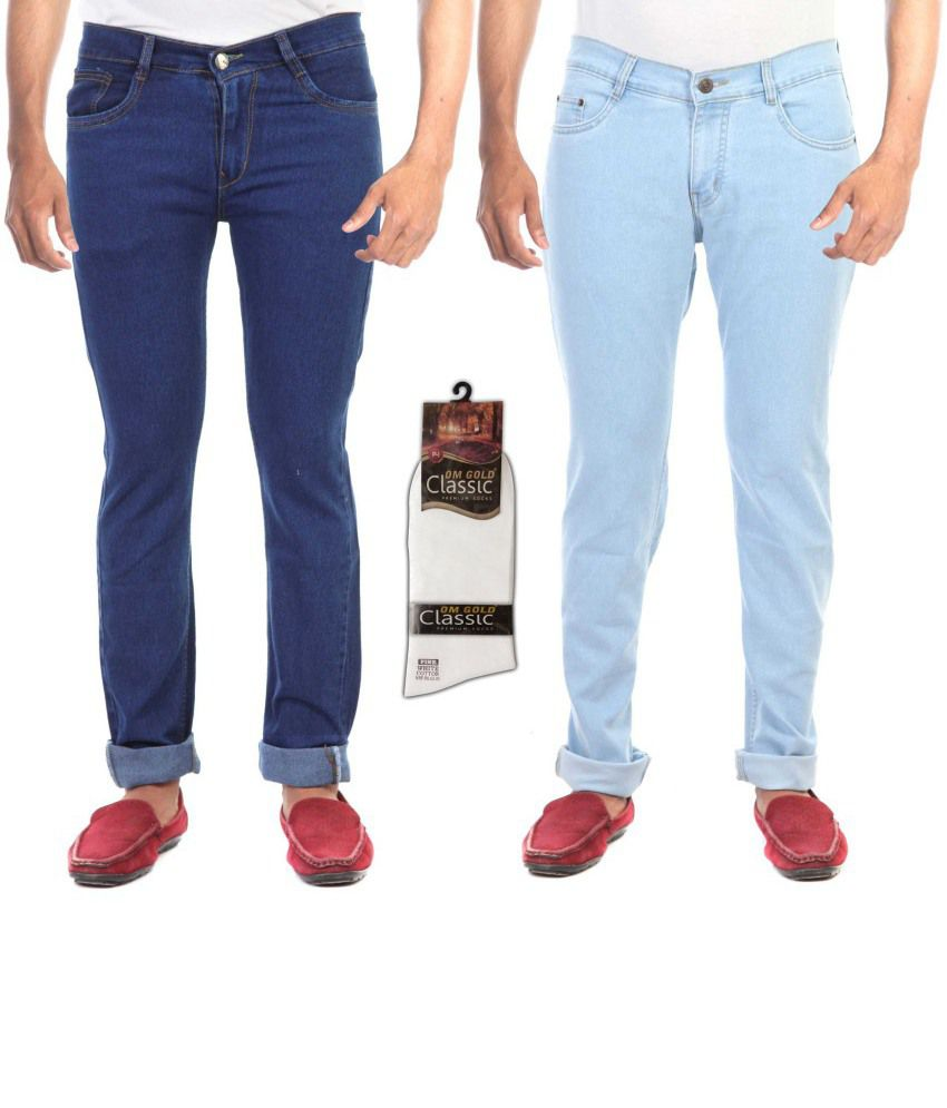 Haltung Combo Of 2 Regular Fit Jeans And 1 Pair Socks