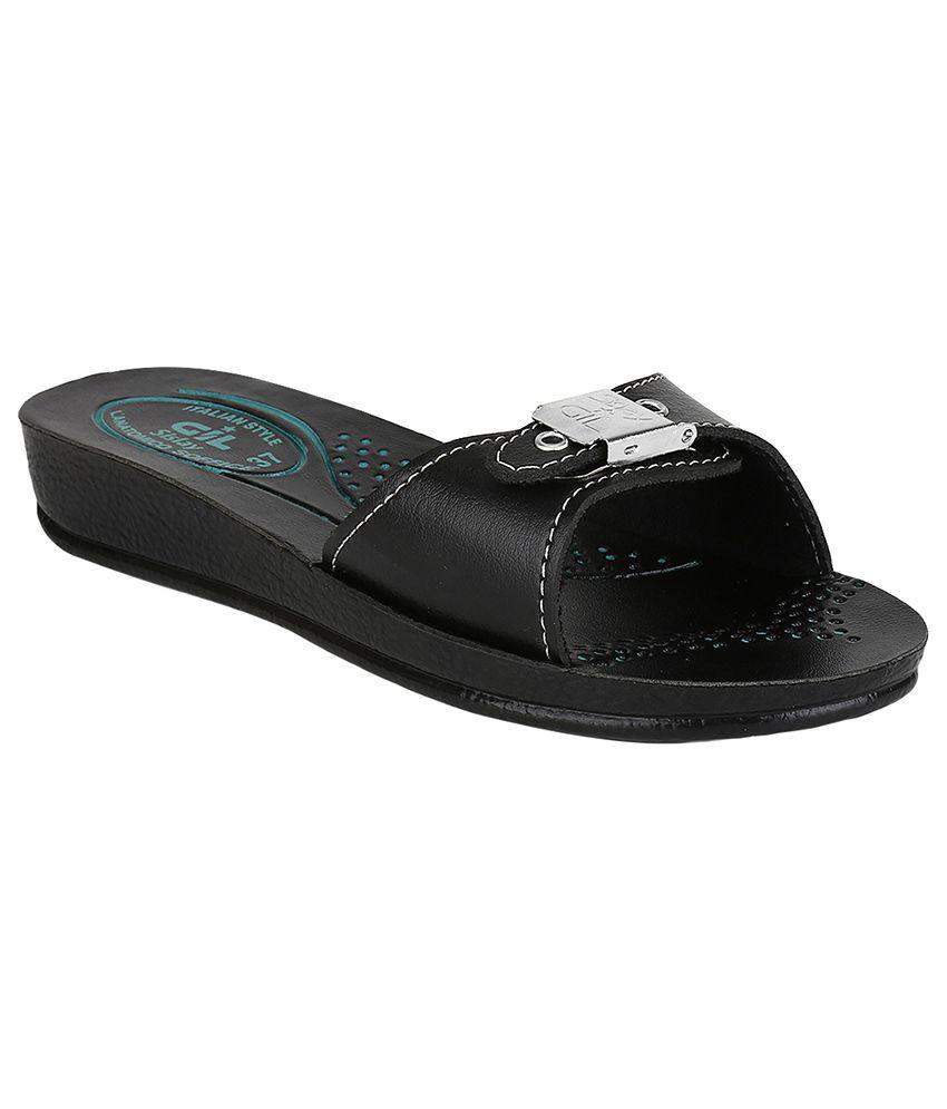 Hanna Black Flat Slip-on