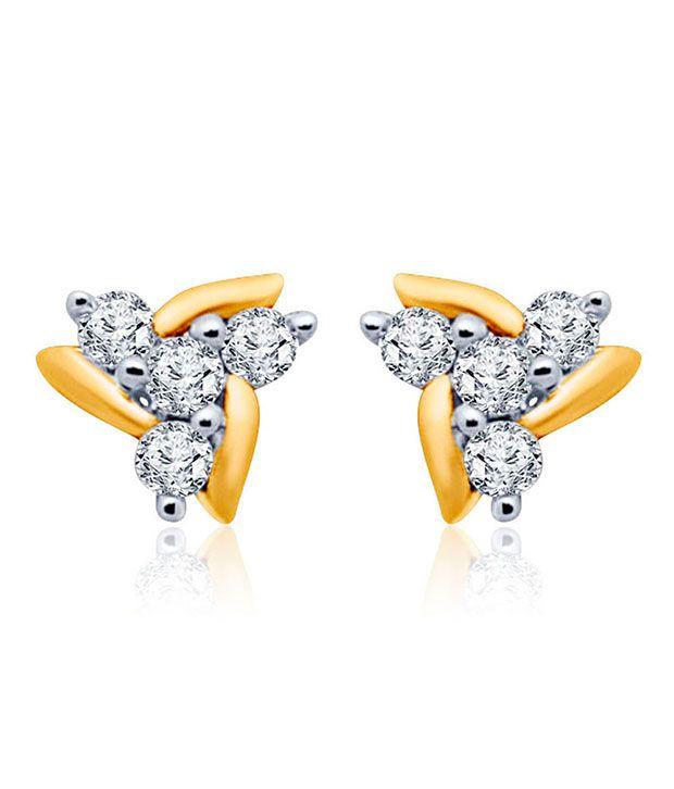 Mirrar 18kt Golden Traditional Drop Earrings