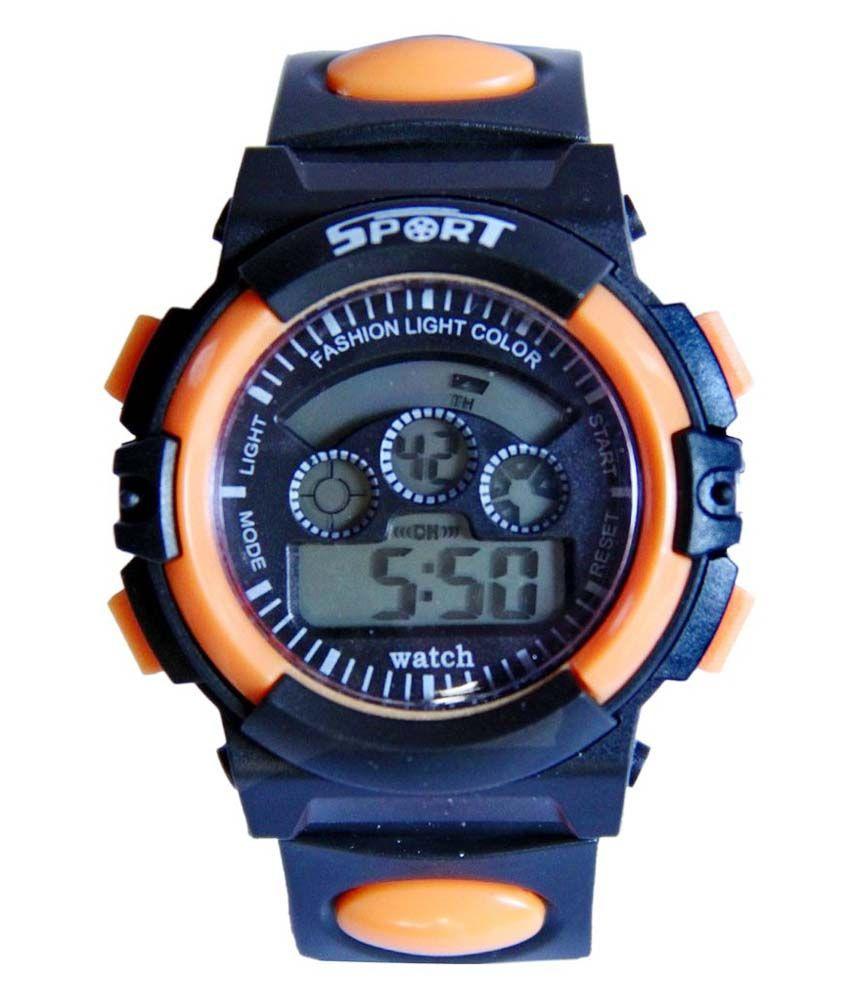 TCT Orange Designer Digital Watch