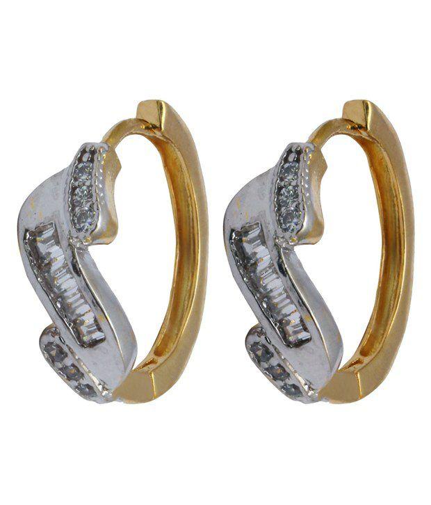 Affinity Jewellers Golden Alloy Designer Earrings