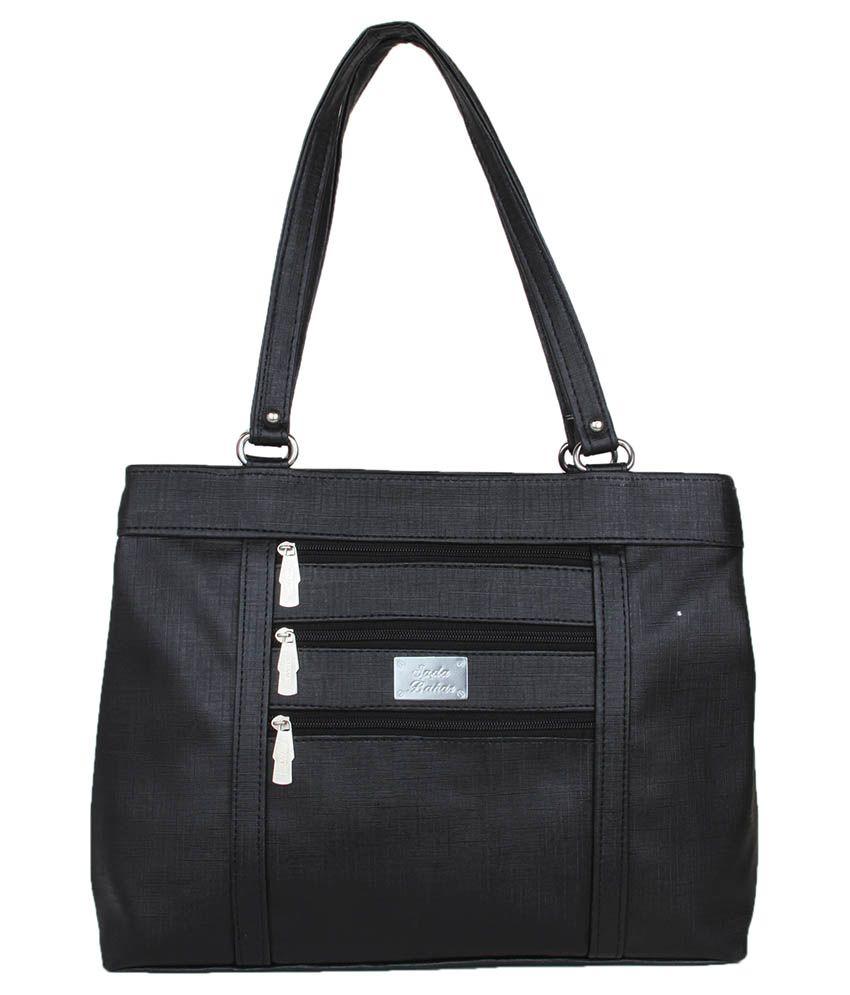 Prepra Black Non Leather Shoulder Bag