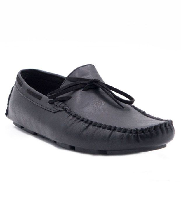 Belle Gambe Black Loafers