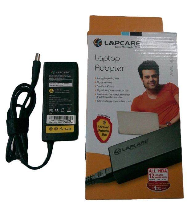 Lapcare Laptop Adapter For Compaq Cq-40 With Actone Power Cord - Black