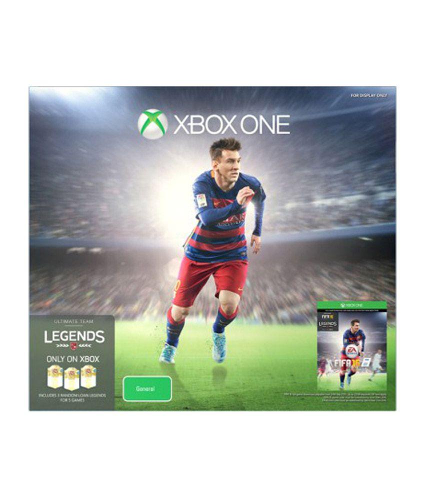 Microsoft Xbox One 500 GB with FIFA 16 - Black