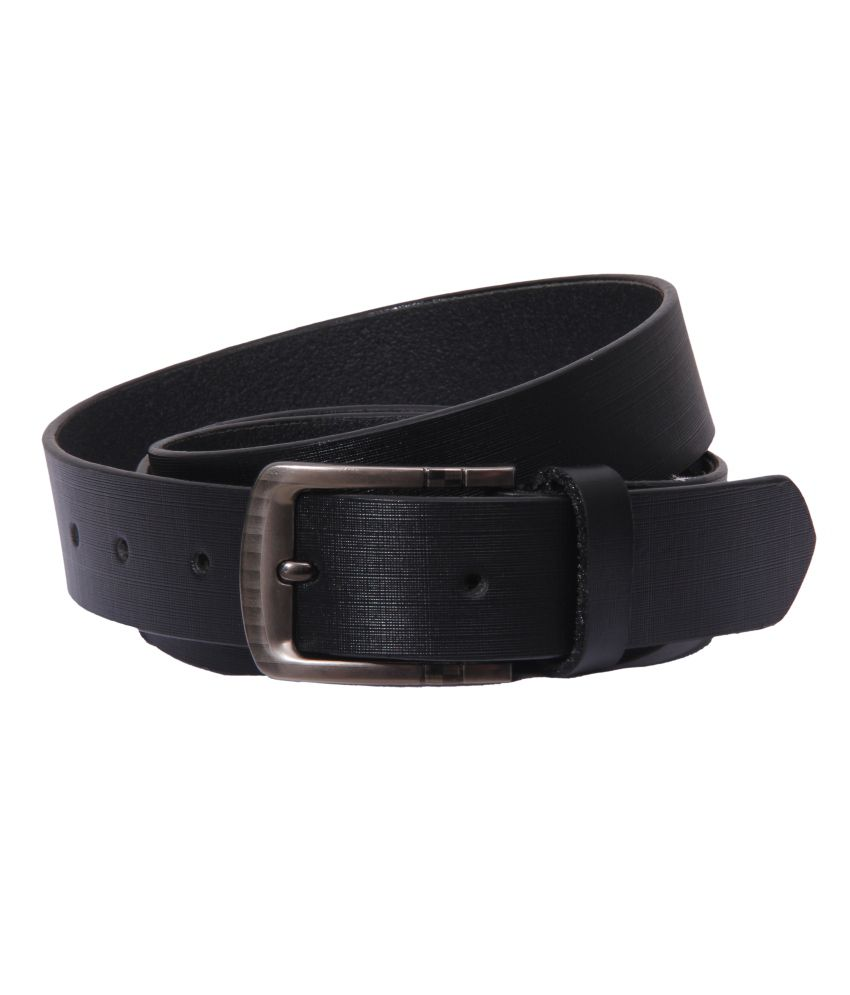 S S Mart Black Formal Single Belt For Men