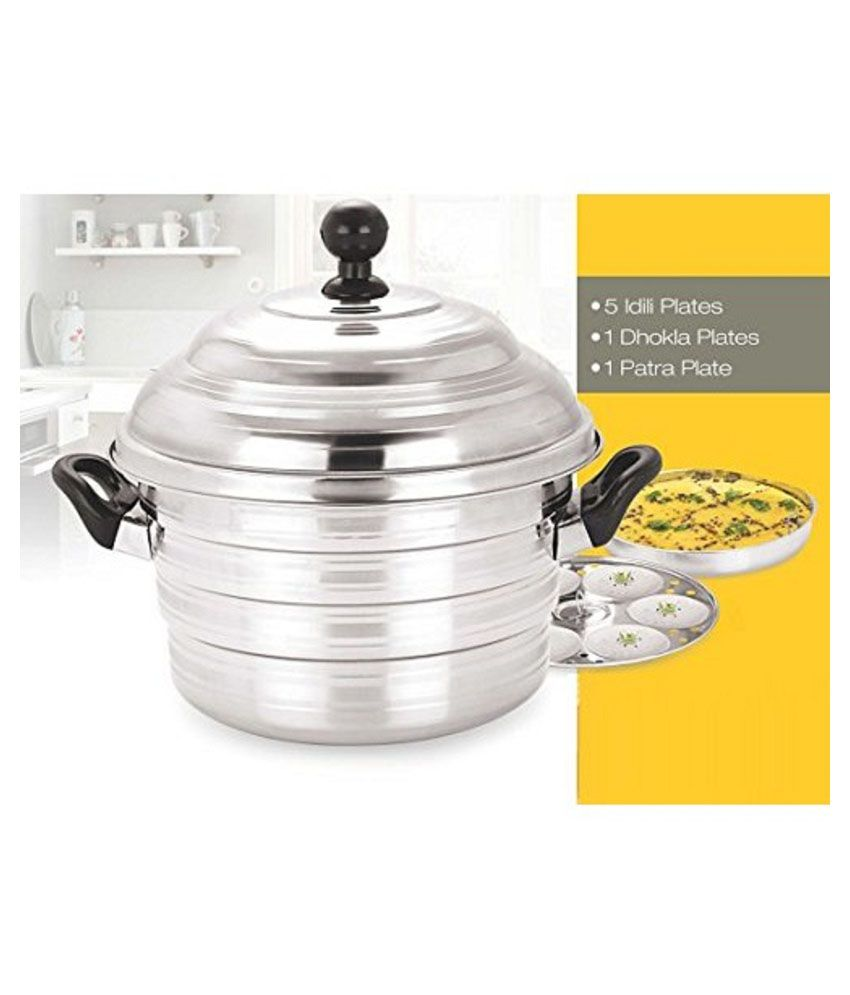 a4f4895636b Metro Stainless Steel 4 Plate Dhokla and Idli Cooker  Buy Online at ...