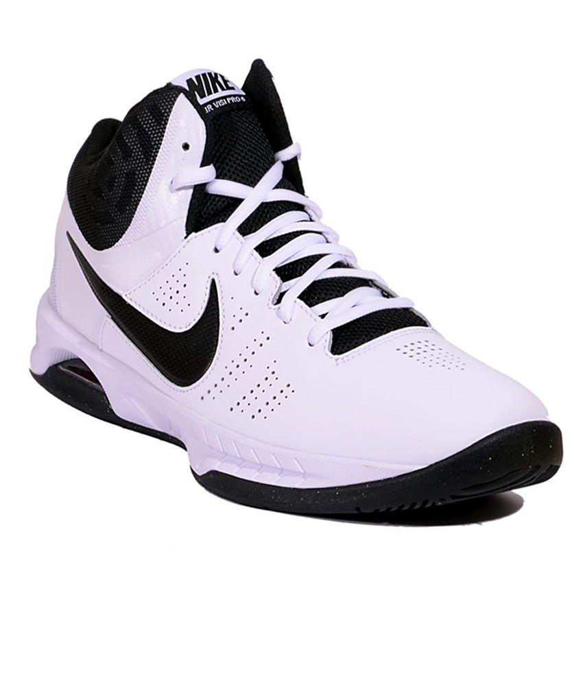 5718b4e2632 sale nike air visi pro 6 wht black men sports shoes 5a928 17631