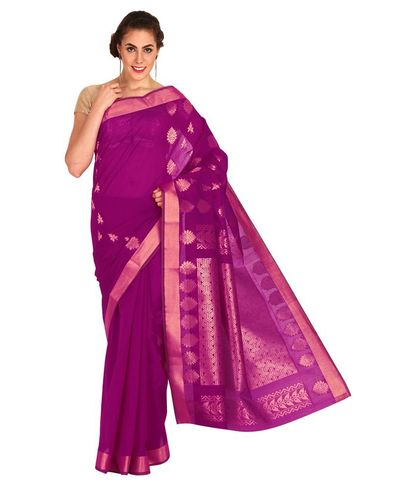 Platinum Purple Silk Saree