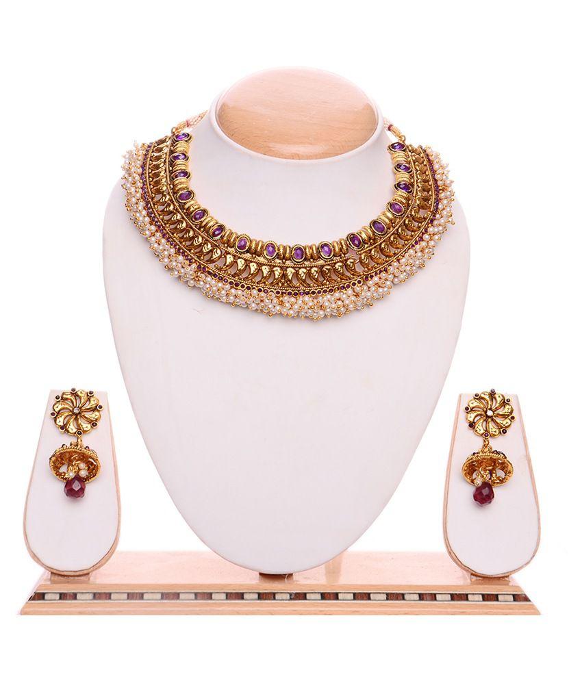 iGenie Gold Copper Bridal Fashion Necklace Set