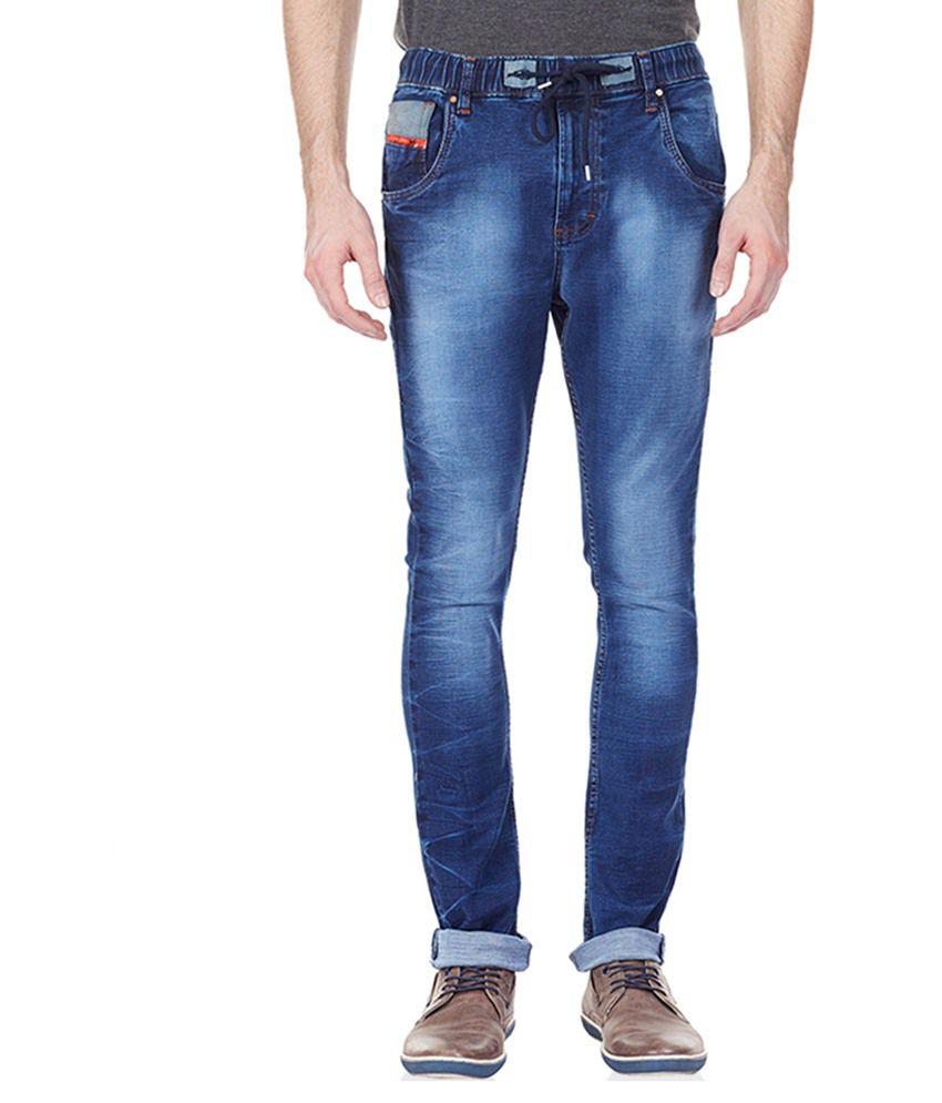 Vintage Blue Slim Fit Jeans