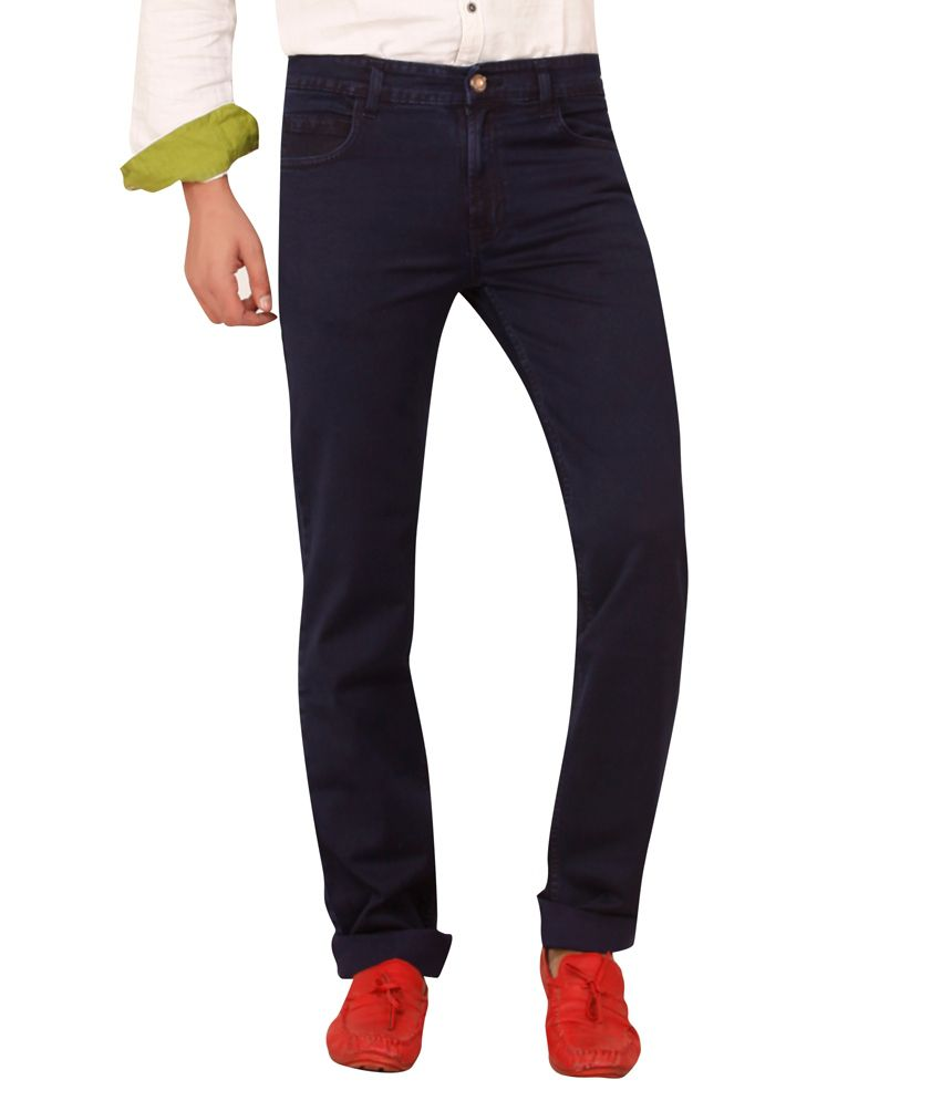 Carrie Jeans Blue Cotton Regular Fit Jeans