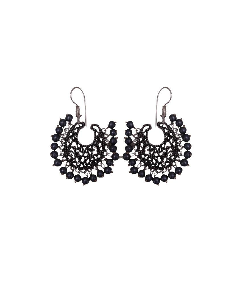 Jaipur Gems Silver Exotic Earrings