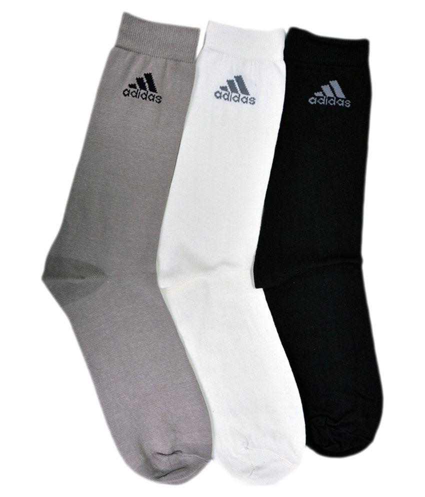 Adidas Multicolour Full Length Casual Socks - Pack of 3