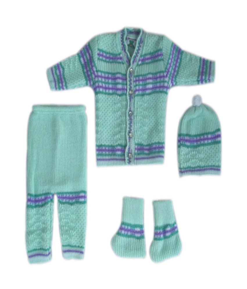 Baby Sweater Woolen Set Pack Of 4 0 6 Months Buy Baby Sweater