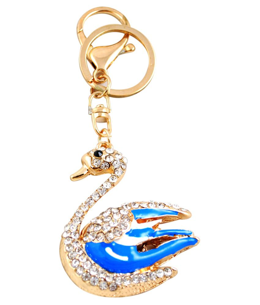 Forty Creek Swan With Multistone Shaped Key Chain