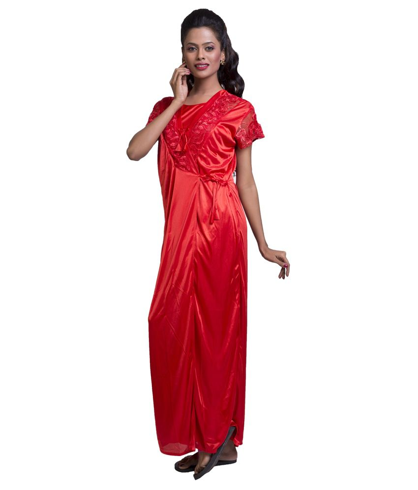 Buy Ishin Red Silk Nighty Online at Best Prices in India - Snapdeal f9c54d11b