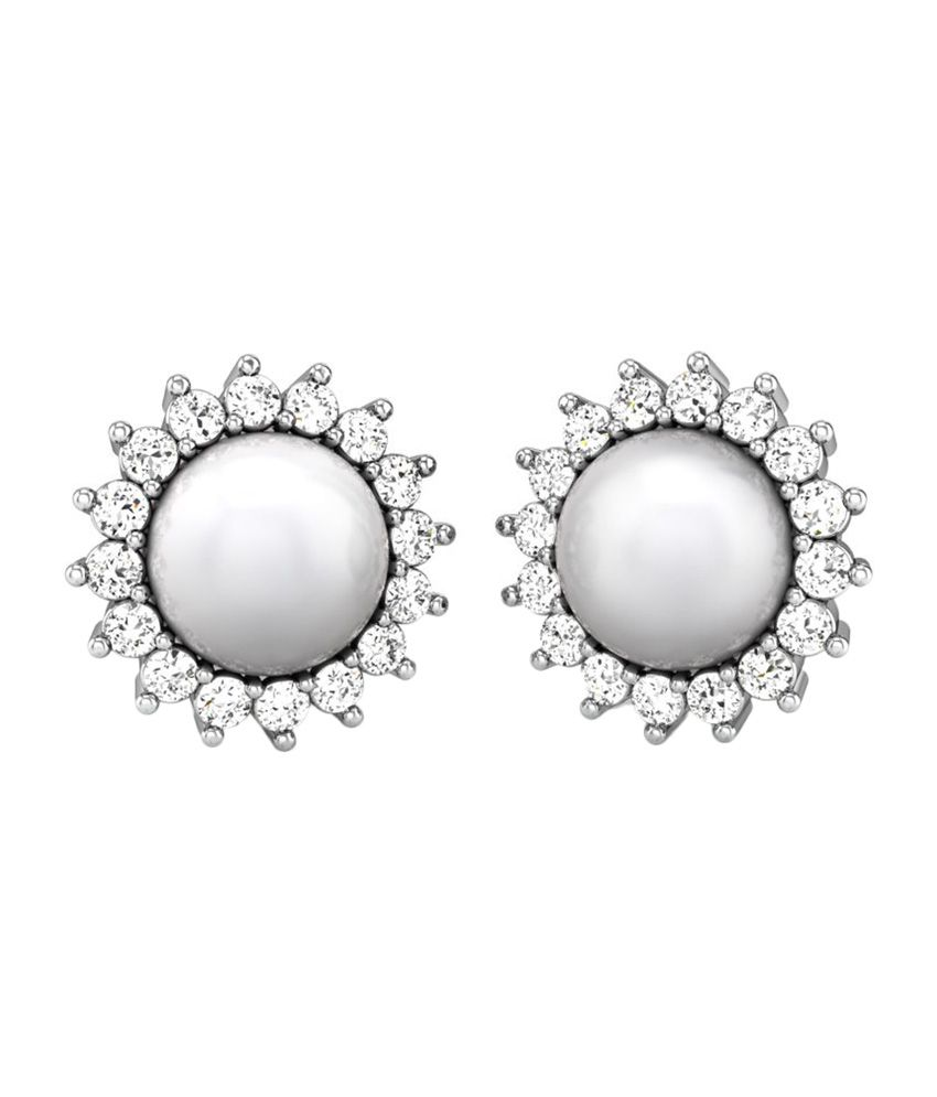 Candere Karen Gold 14K Pearl Earrings