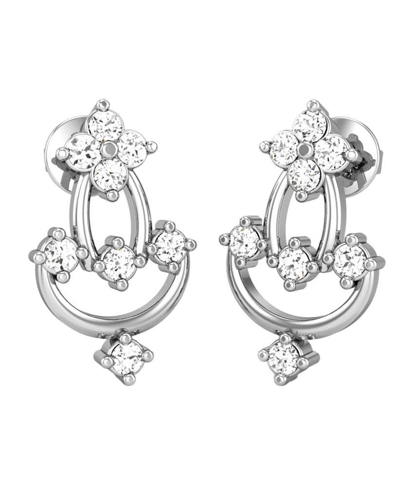 Candere Sakhi Gold 14K Diamond Earrings