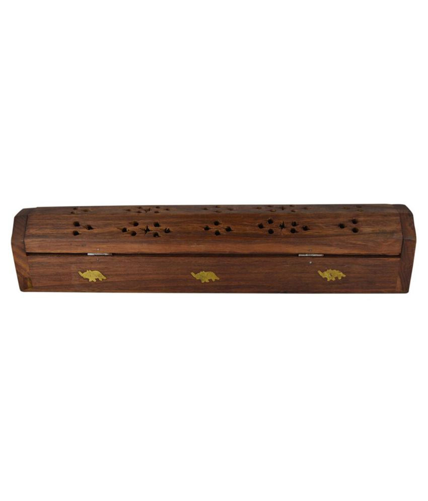 Gift Punch Services Brown Wooden Designer Jewellery Box