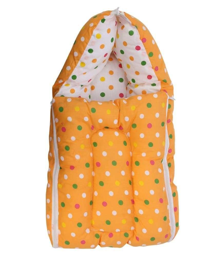 Inztanz Yellow Mixed Cotton Sleeping Bag
