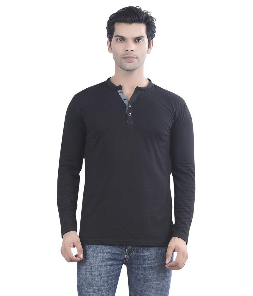 Maniac Black Cotton T-shirt