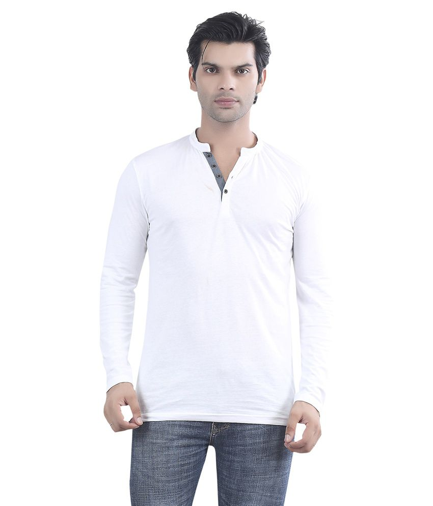 Maniac White Cotton T-shirt