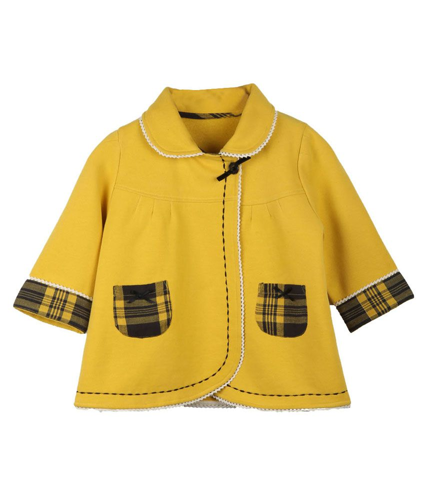 My Lil Berry Yellow Fleece Coat