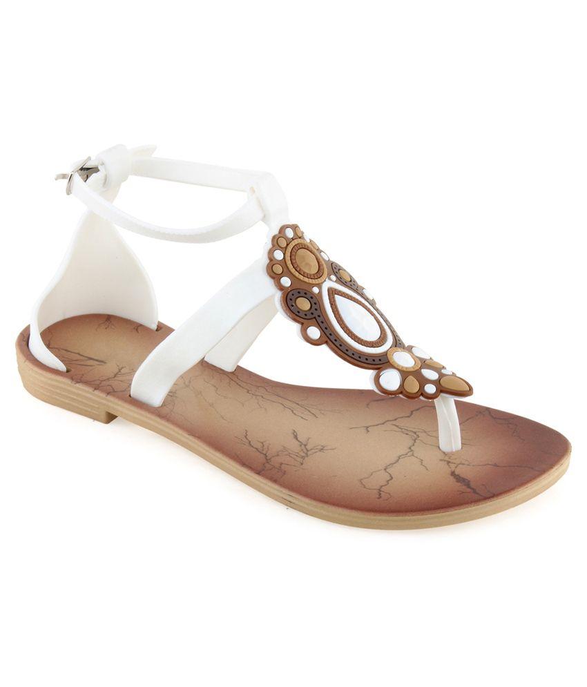 Shoe Lab White Flats