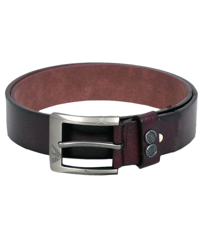 Vintage Brown Leather Casual Belt