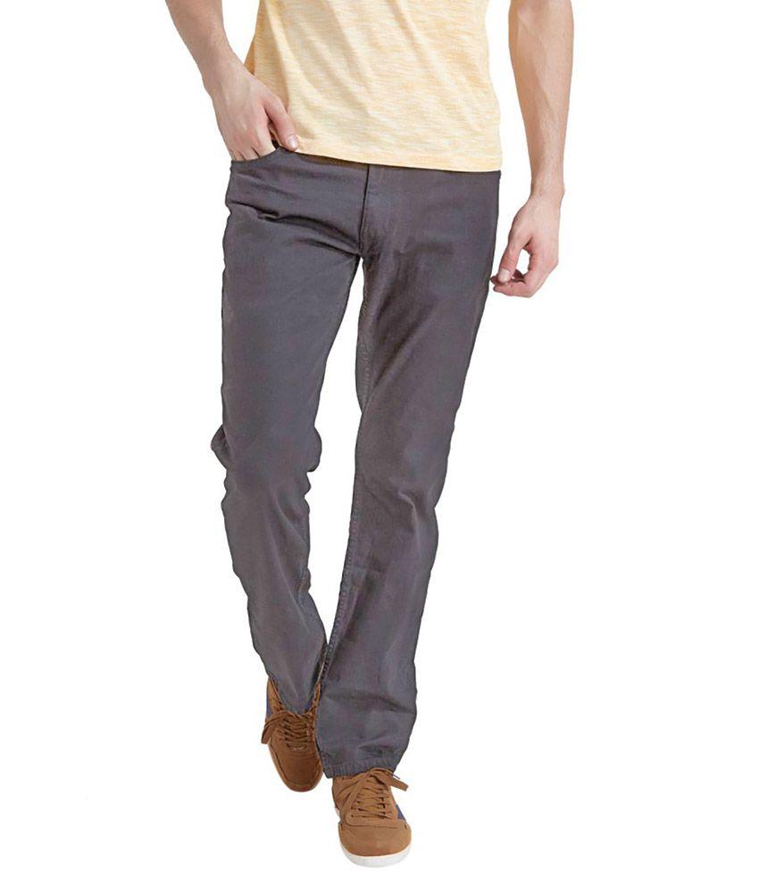 0-Degree Denim Grey Slim Fit Jeans