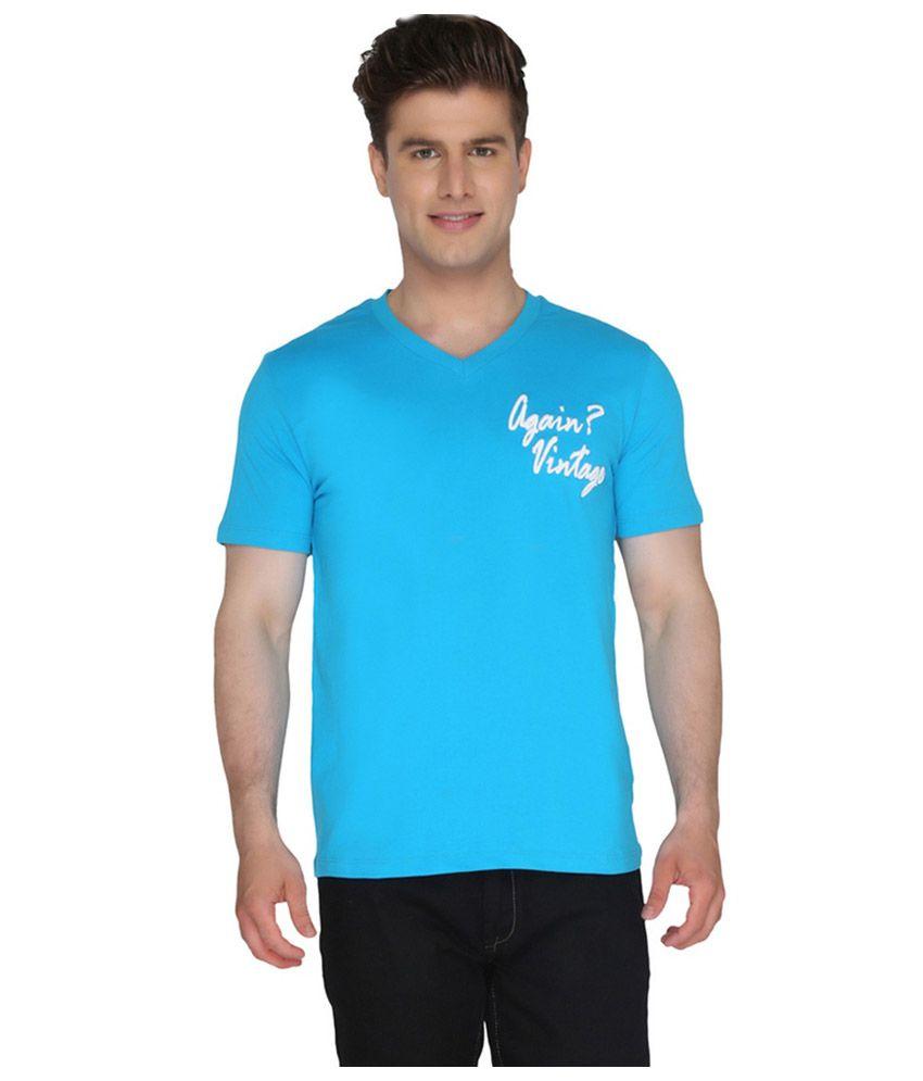 Again? Vintage Blue Cotton T-shirt