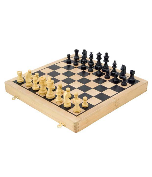 Ahuja Chess Ebony Wood Case Chess Board