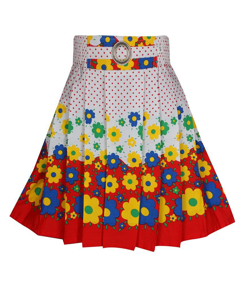 Jazzup Multicolour Cotton Skirt