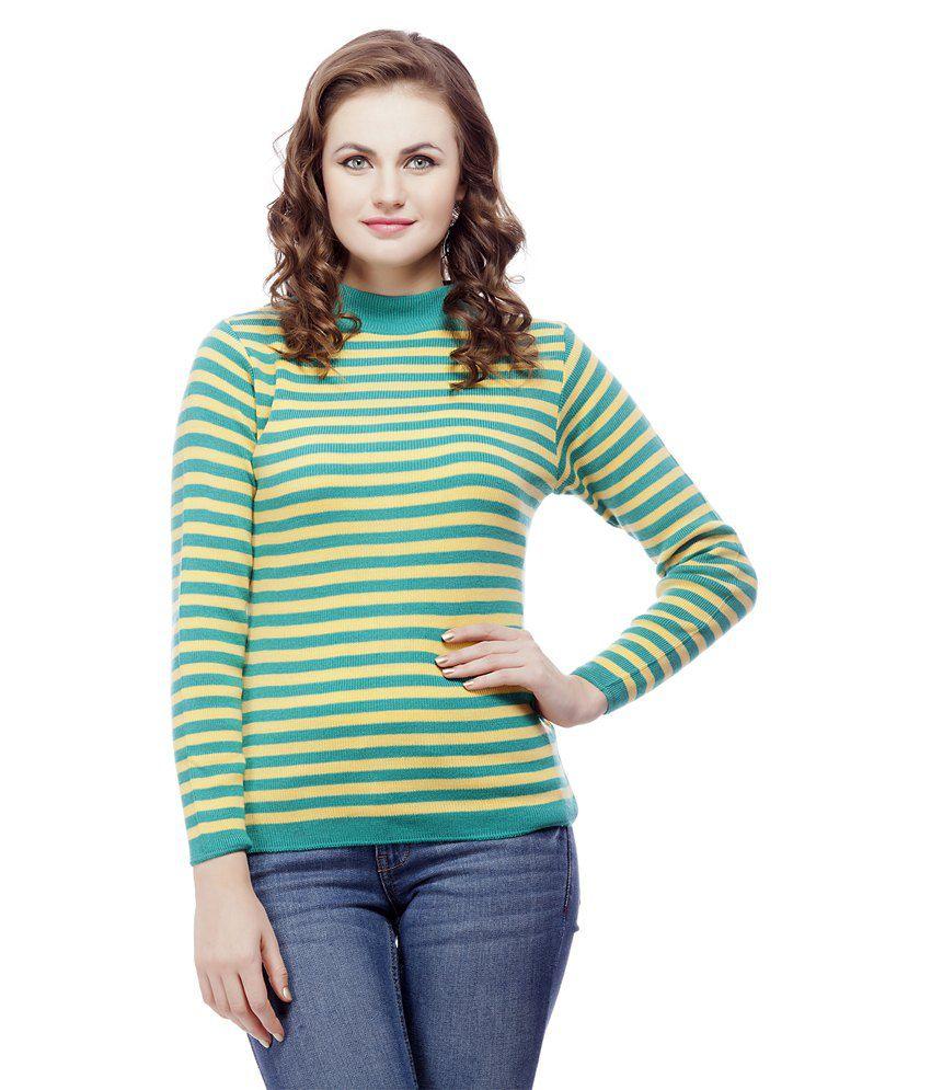 Knitco Green Acro Wool Pullovers