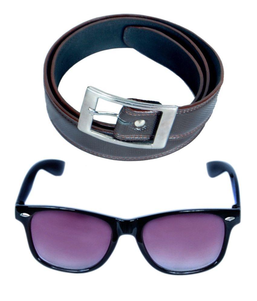KVELL Be Proud Present's Combo Of Shinning Brown Belt & Black-Purple Wayfare