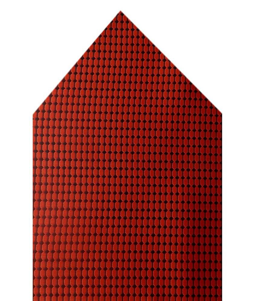 Navaksha Red Micro Fiber Pocket Square