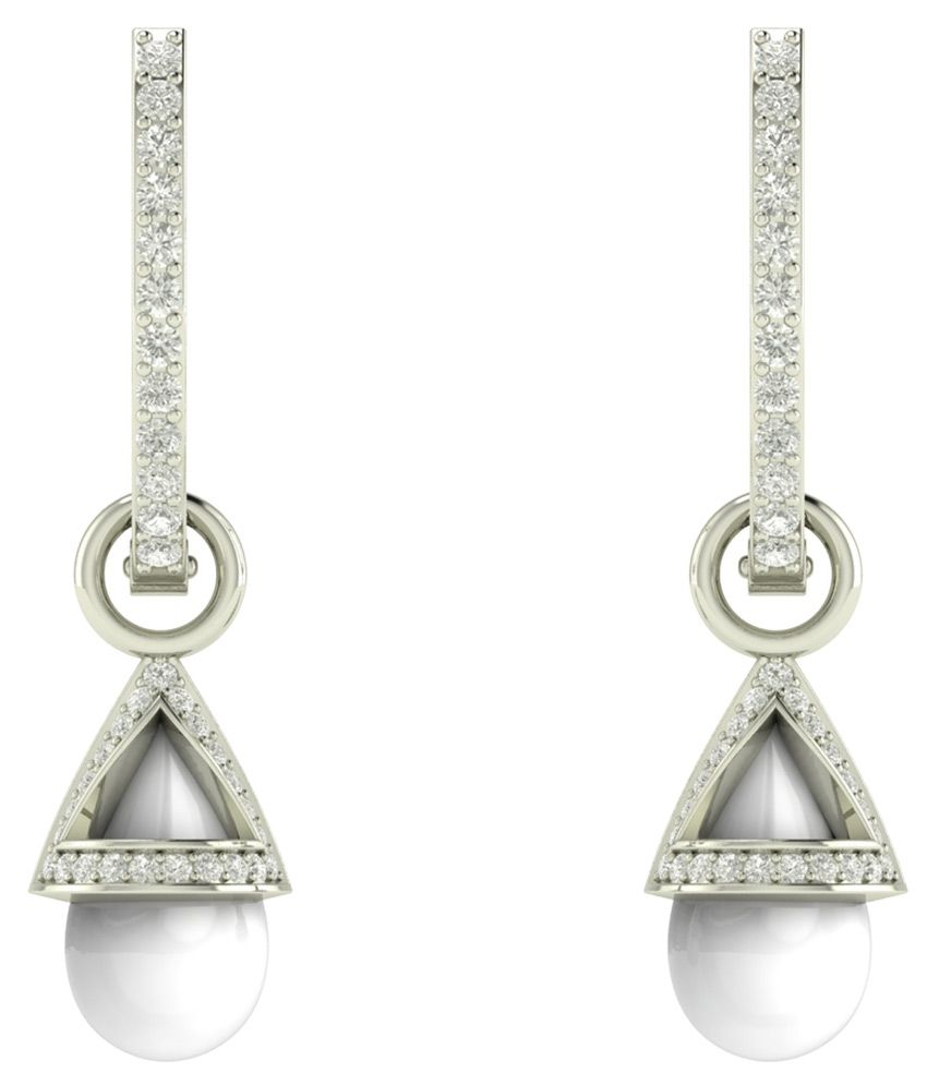 Charu Jewels 18kt White Gold Circle of Life Earring