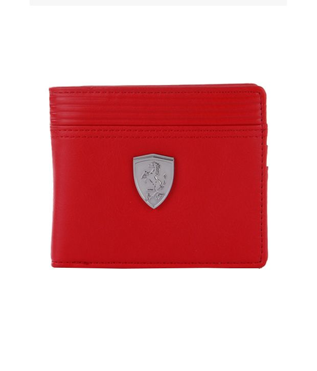 915d6fa606 Puma Ferrari Non Leather Red Formal Wallet For Men: Buy Online at Low Price  in India - Snapdeal