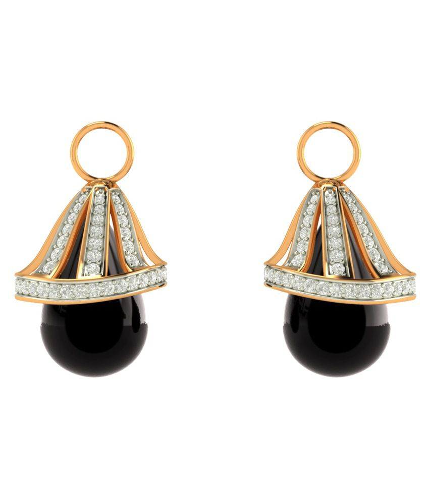Charu Jewels 18Kt Gold Hanging Earrings