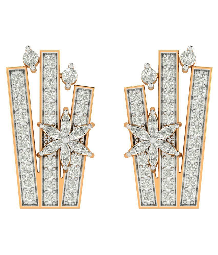 Charu Jewels 18Kt Gold Hanging Earrings